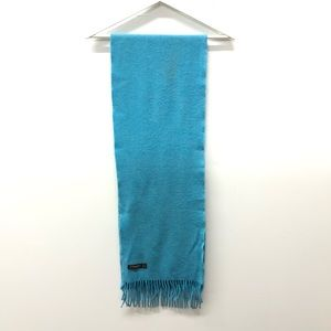 J.McLaughlin Wool Fringe Scarf Turquoise
